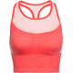 Icebreaker Meld Zone Long Sport Bra Women poppy red/sorbet